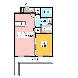 棒屋第11下池ハイツ[3階]の間取り