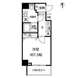 プレール・ドゥーク亀戸水神駅前[6階]の間取り