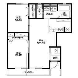 アムール 桜[1階]の間取り