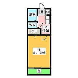 スプリングコートB[1階]の間取り