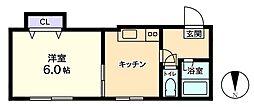 信開セルーラ泉台2[2階]の間取り