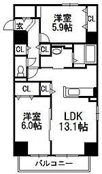 ライラック ガーデン[5階]の間取り