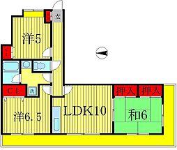 宇田川ハイツ弐番館[4階]の間取り