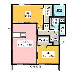 仮)D-room妙興寺[1階]の間取り