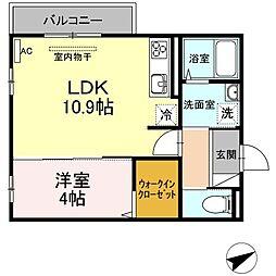 (仮)D-room山本3丁目[304号室]の間取り