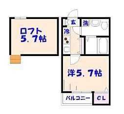 仮)平田2丁目の新築[102号室]の間取り