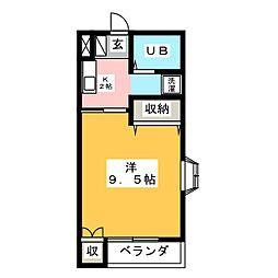 シャトル95[2階]の間取り