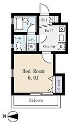 ゴールドクレスト(安心の2階、角部屋)[2階]の間取り