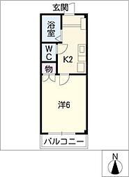 CBドリーム関山II[1階]の間取り