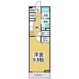 JR信越本線 長野駅 徒歩20分の賃貸アパート 1階1Kの間取り