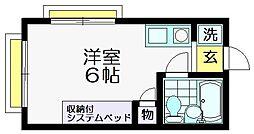 ハイムピア仙川[202号室]の間取り
