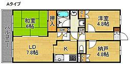 deuxローズレイア[2階]の間取り
