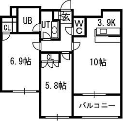 グランカーサ裏参道[4階]の間取り
