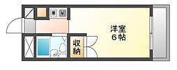 岡山県岡山市北区西古松の賃貸マンションの間取り