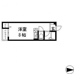 ピア小阪[205号室号室]の間取り