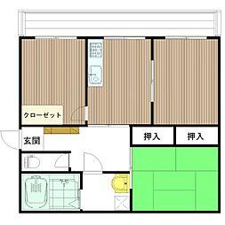 広島県呉市広古新開1丁目の賃貸マンションの間取り