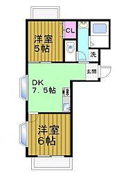 秋田マンション[301号室]の間取り