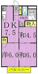 レジデンス小澤ハイツ[303号室]の間取り