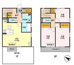[テラスハウス] 千葉県習志野市実籾2丁目 の賃貸【/】の間取り