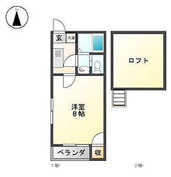 フォレスト志賀本通[2階]の間取り
