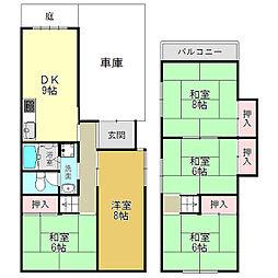 [一戸建] 奈良県大和高田市大字築山 の賃貸【/】の間取り