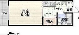 東京都杉並区下高井戸3の賃貸アパートの間取り