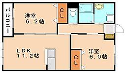 仮称 本城新築マンション[2階]の間取り