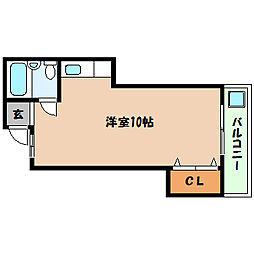 兵庫県神戸市灘区中原通4丁目の賃貸マンションの間取り