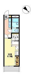 兵庫県神戸市西区伊川谷町有瀬の賃貸アパートの間取り