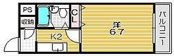 林泉第1ビル[4階]の間取り