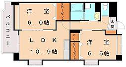 リベルタ新宮[3階]の間取り