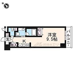 DAIWA RESIDENCE IBARAKI 5階ワンルームの間取り
