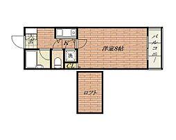 レーブ95[1階]の間取り