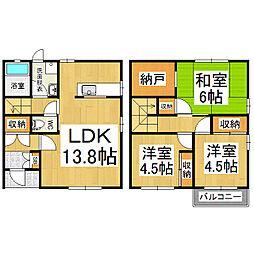 [テラスハウス] 長野県松本市石芝4丁目 の賃貸【長野県 / 松本市】の間取り