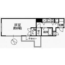 エスポワール箱崎III[2階]の間取り