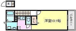 ヴェルドミール園田[2階]の間取り