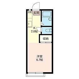 メゾン プレーリー II[2階]の間取り