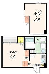 DESIGN SQUARE[2階]の間取り