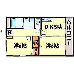 パステロ[2階]の間取り