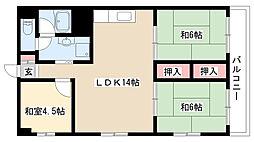 愛知県名古屋市南区戸部町1丁目の賃貸マンションの間取り