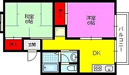 ドゥヴィネットB棟[2階]の間取り