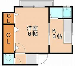 カトレアコーポ[3階]の間取り