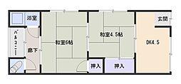 東口文化[2階]の間取り