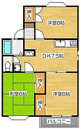 レジデンス高松[1階]の間取り