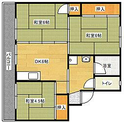 ビレッジハウス直方東 1号棟[105号室]の間取り