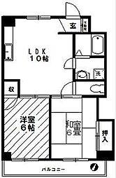 神奈川県横浜市青葉区すすき野1丁目の賃貸マンションの間取り