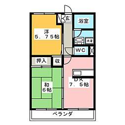 DOLCETERRACE[2階]の間取り