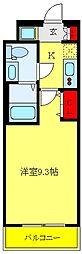 都営三田線 板橋本町駅 徒歩7分の賃貸マンション 2階1Kの間取り