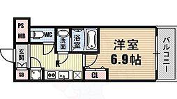 ファーストレジデンス大阪BAY SIDE 3階1Kの間取り