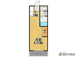 フレンディー平田原B棟[2階]の間取り
